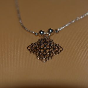 Golden Necklace with Pendant